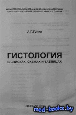 Гистология в списках, схемах и таблицах - Гунин А. Г. - 2002 год - 88 с.