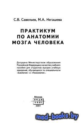 Практикум по анатомии мозга человека - Савельев С.В., Негашева М.А. - 2001  ...