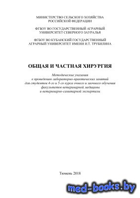 Общая и частная хирургия - Белобороденко Т.А., Родин И.А. и др. - 2018 год