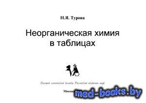 Неорганическая химия в таблицах - Турова Н.Я. - 1997 год