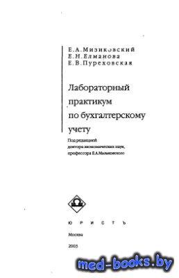 Лабораторный практикум по бухгалтерскому учету - Мизиковский Е.А., Елманова ...