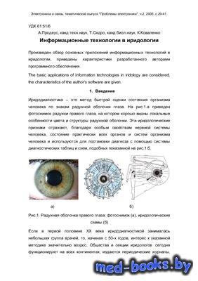 Информационные технологии в иридологии - Продеус А., Сядро Т., Коваленко К. - 2005 год