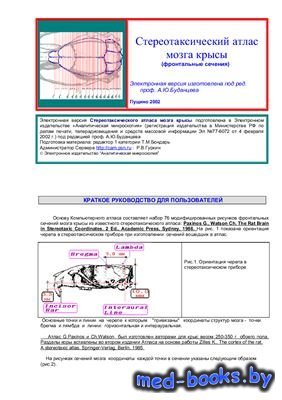 Стереотаксический атлас мозга крысы (фронтальные сечения) - Буданцев А.Ю.